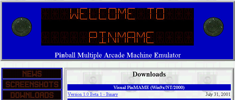 Visual pinball roms download | Arcade Visual Pinball roms
